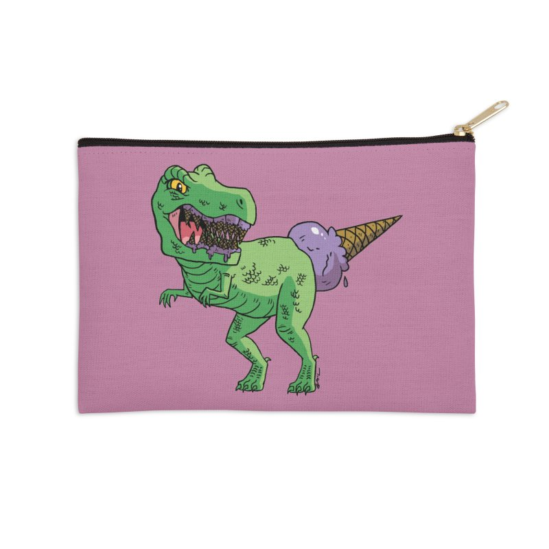 Ice Cream Rex Accessories Zip Pouch by brianmcl's Artist Shop