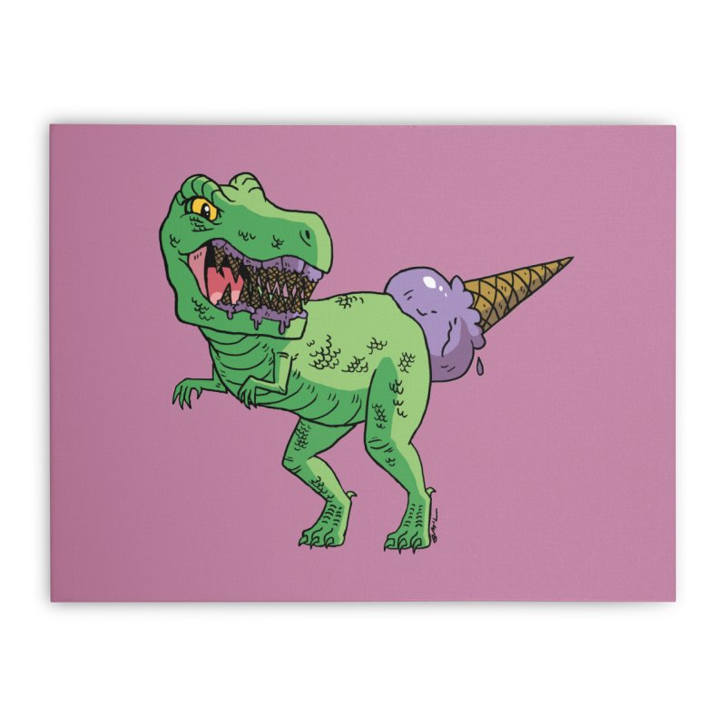 Ice Cream Rex Home Stretched Canvas by brianmcl's Artist Shop