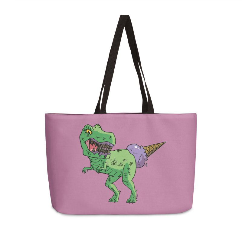 Ice Cream Rex Accessories Weekender Bag Bag by brianmcl's Artist Shop