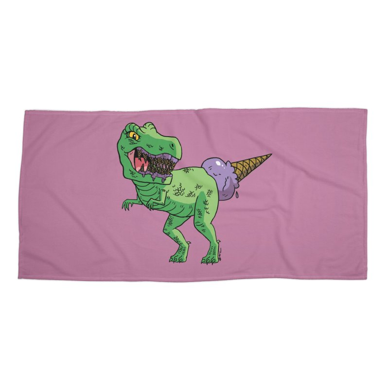 Ice Cream Rex Accessories Beach Towel by brianmcl's Artist Shop