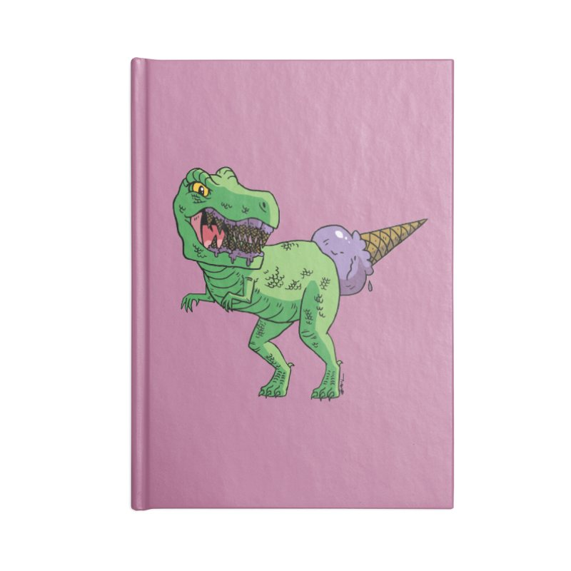 Ice Cream Rex Accessories Blank Journal Notebook by brianmcl's Artist Shop