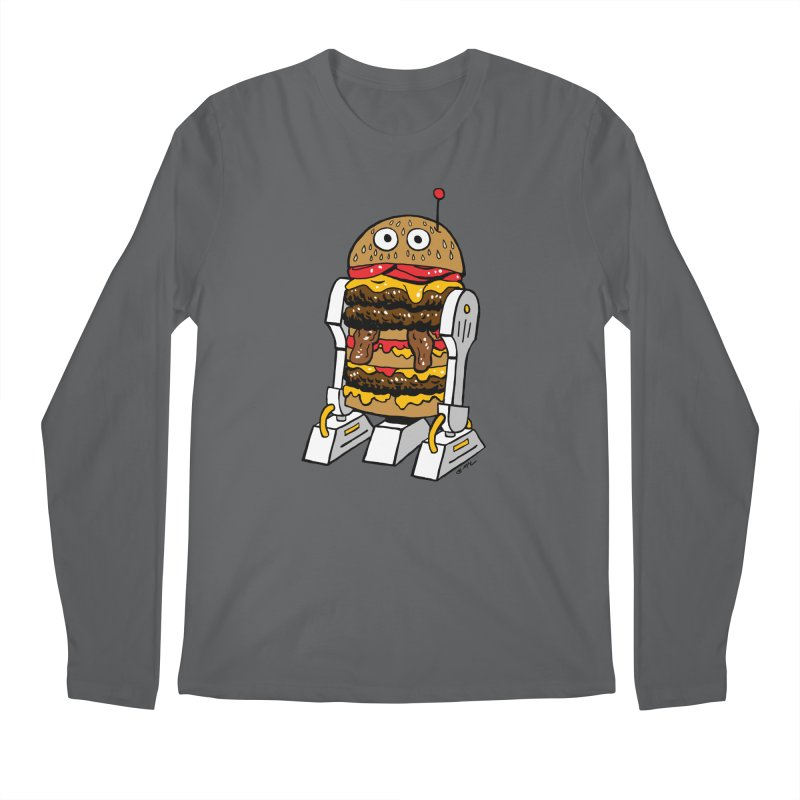 Burgerbot Men's Longsleeve T-Shirt by brianmcl's Artist Shop