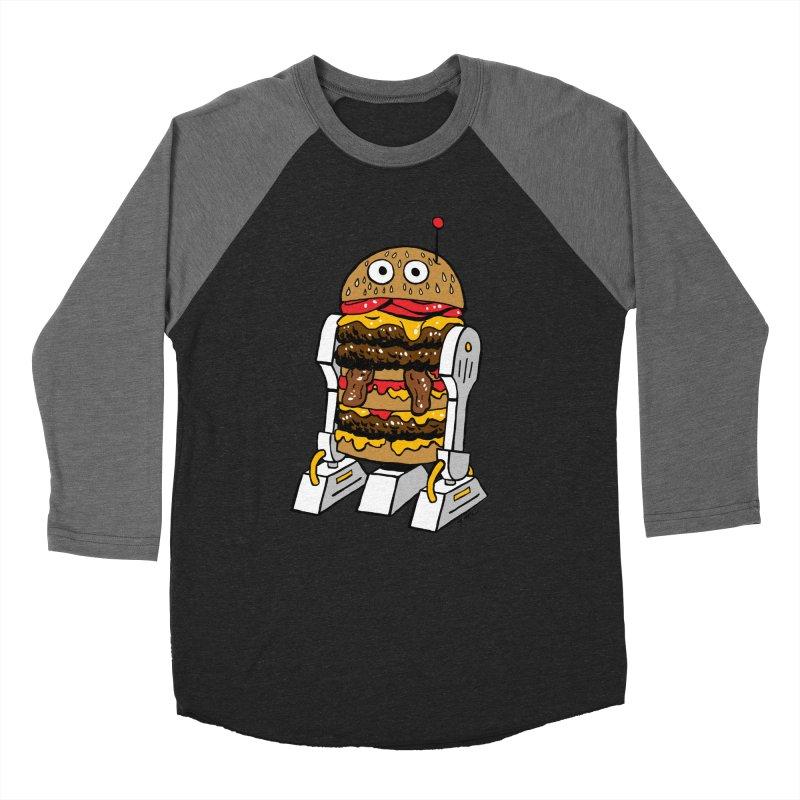 Burgerbot Women's Baseball Triblend Longsleeve T-Shirt by brianmcl's Artist Shop