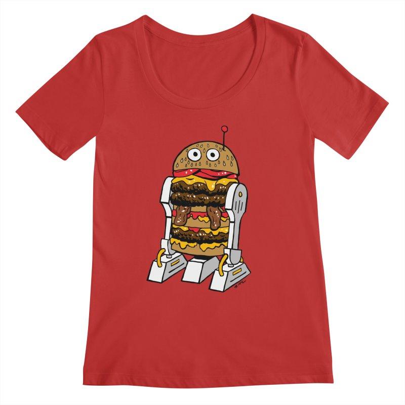 Burgerbot Women's Regular Scoop Neck by brianmcl's Artist Shop