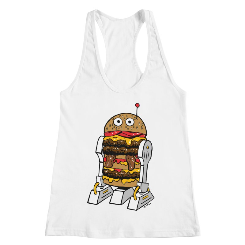 Burgerbot Women's Racerback Tank by brianmcl's Artist Shop