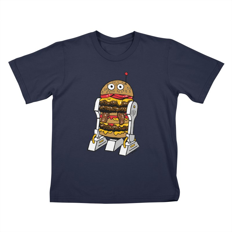Burgerbot Kids T-Shirt by brianmcl's Artist Shop