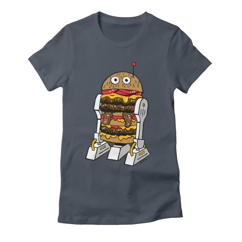 Burgerbot Women's T-Shirt by brianmcl's Artist Shop