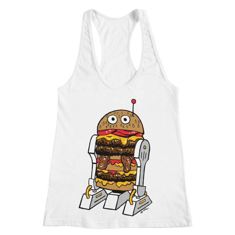 Burgerbot Women's Racerback Tank by brianmcl's Artist Shop