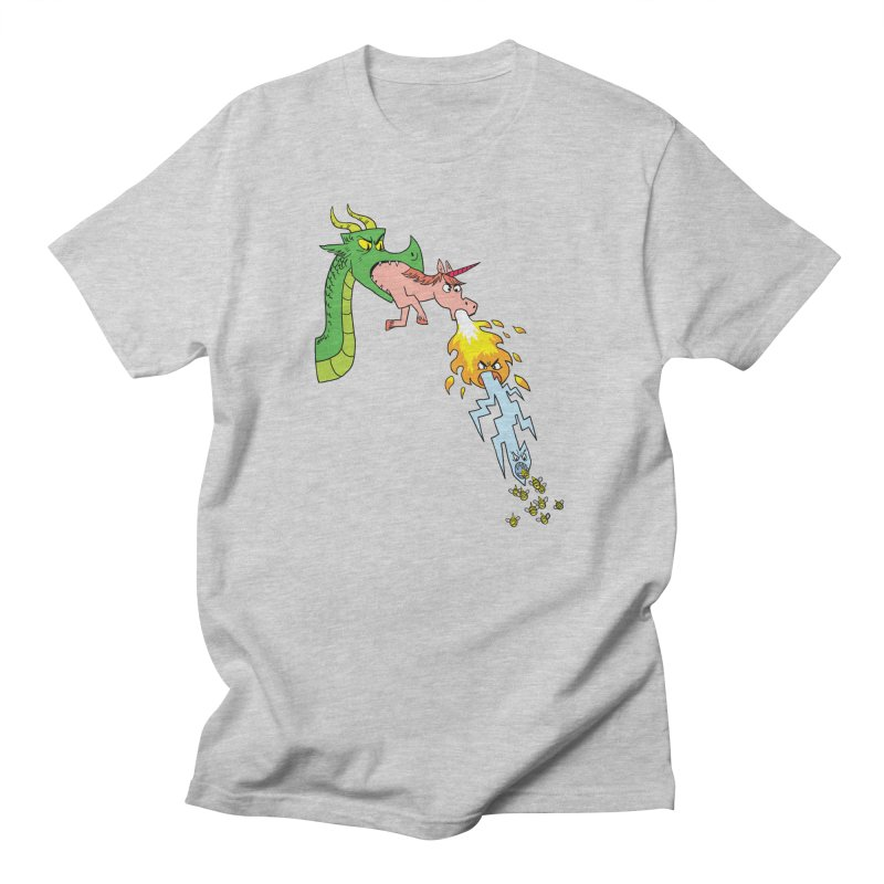 Unicorn-Breathing Dragon Men's T-Shirt by brianmcl's Artist Shop