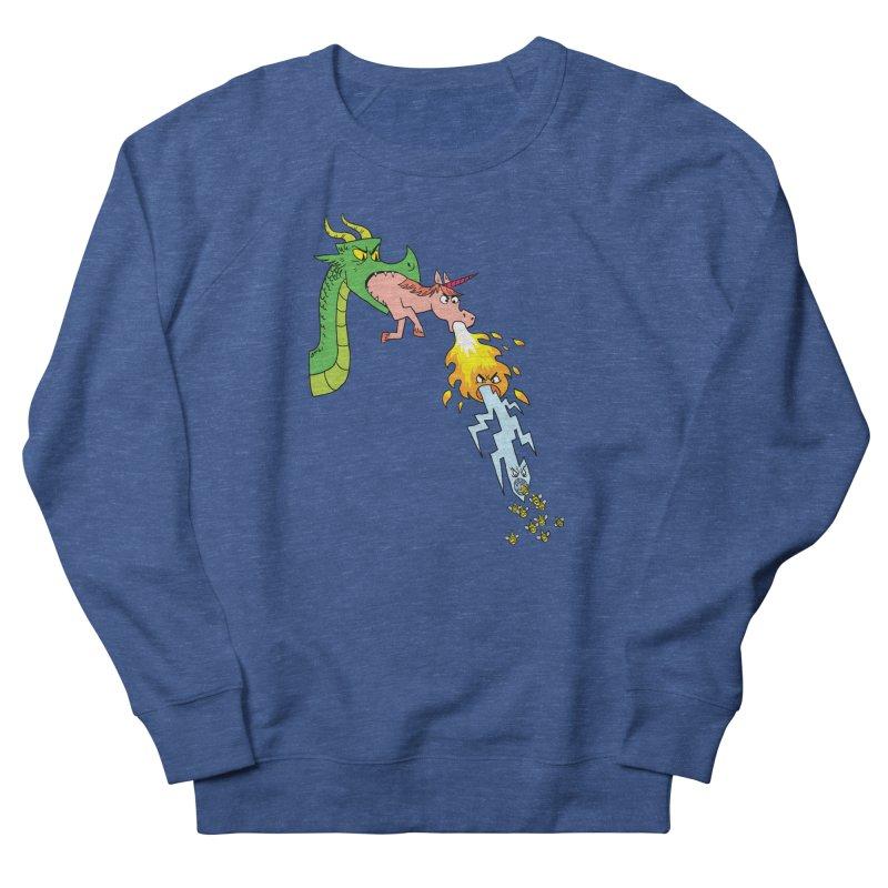 Unicorn-Breathing Dragon Men's Sweatshirt by brianmcl's Artist Shop