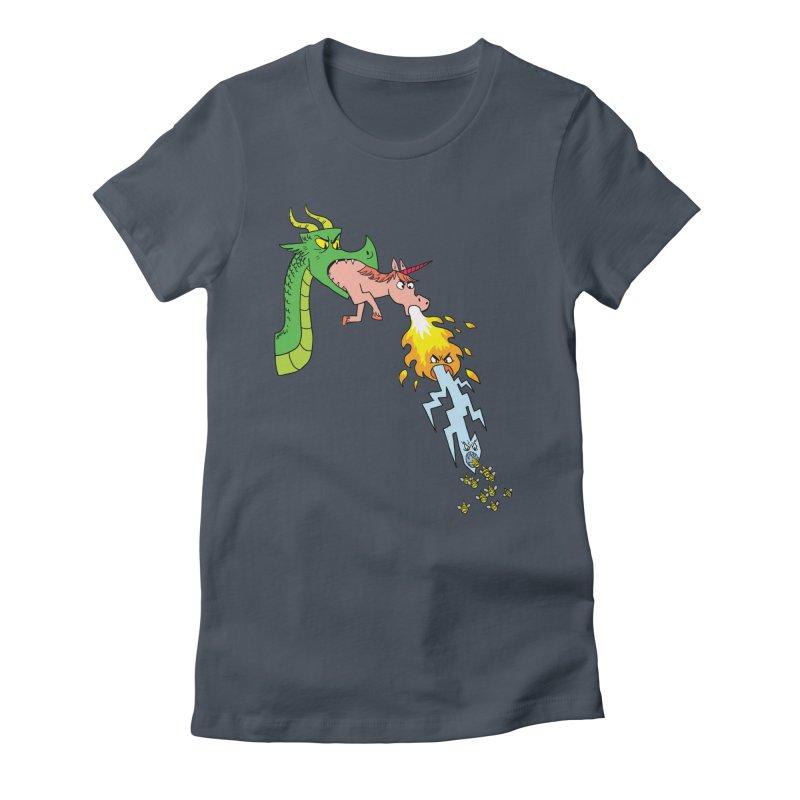 Unicorn-Breathing Dragon Women's T-Shirt by brianmcl's Artist Shop