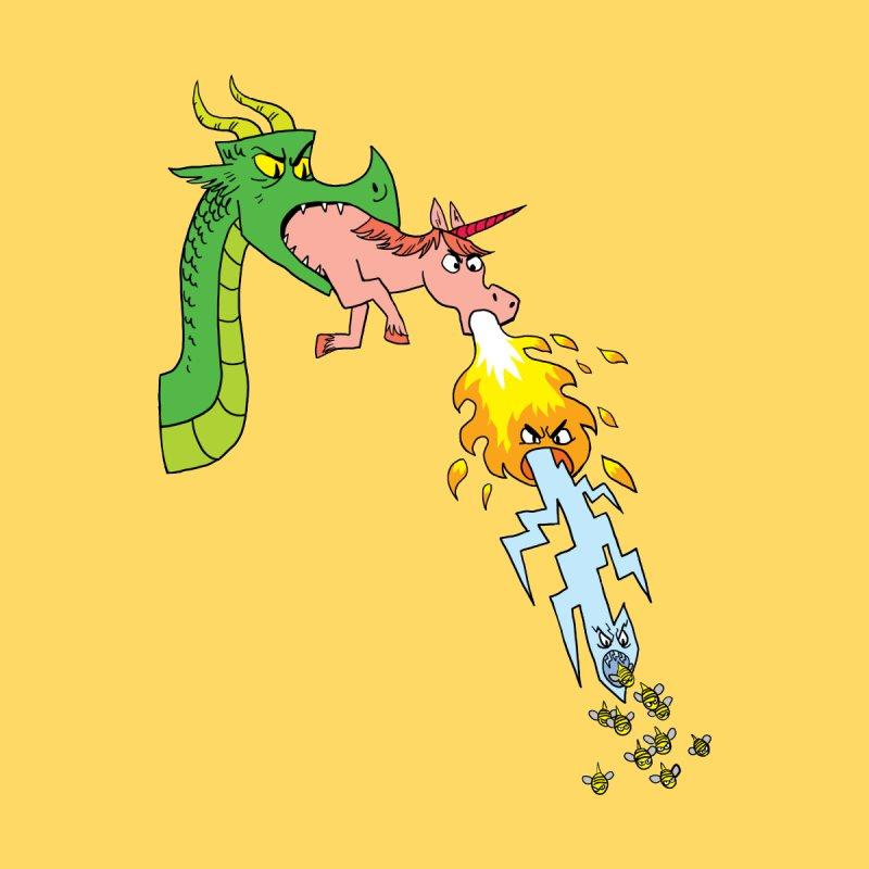 Unicorn-Breathing Dragon by brianmcl's Artist Shop