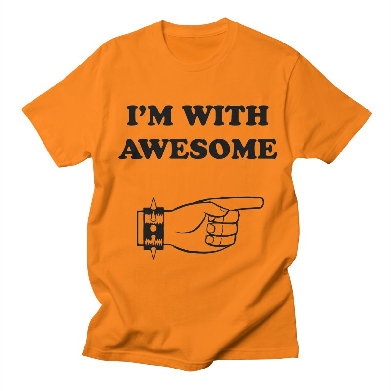 I'm With Awesome Men's Regular T-Shirt by brianmcl's Artist Shop