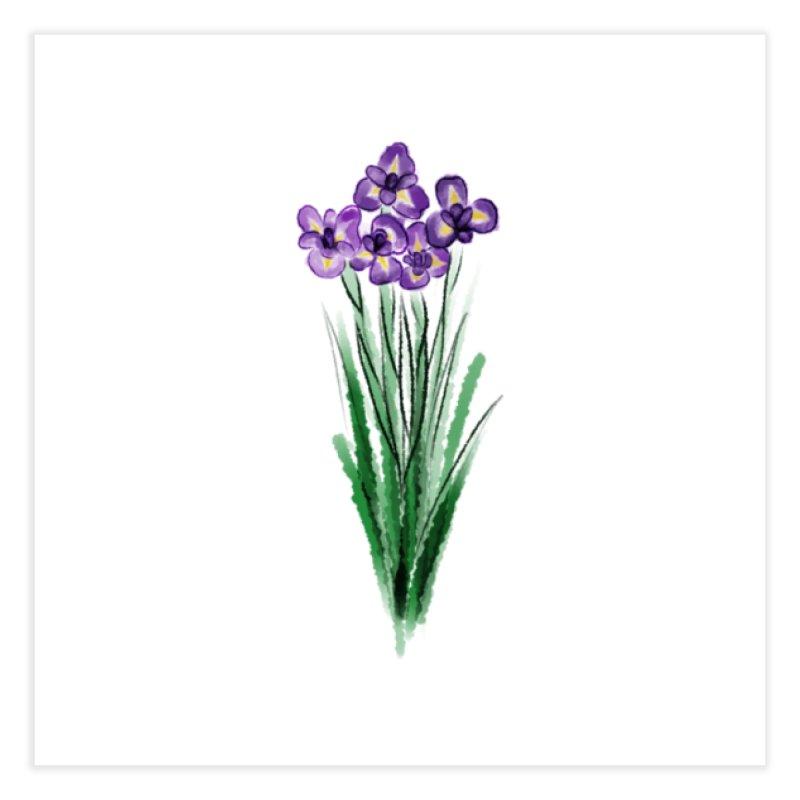 violets Home Fine Art Print by Brianna Santo