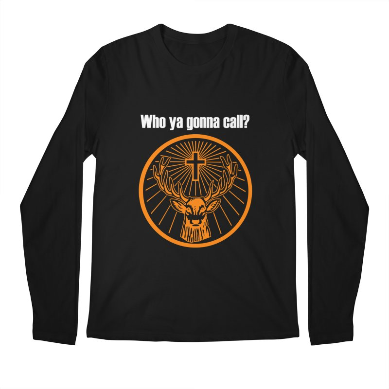 Who ya gonna call? Jagermeister! (Orange) Men's Longsleeve T-Shirt by Brian's Belly: Be The Beer