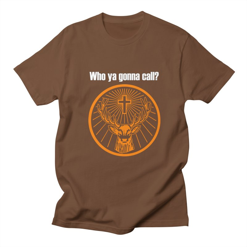 Who ya gonna call? Jagermeister! (Orange) Men's T-shirt by Brian's Belly: Be The Beer