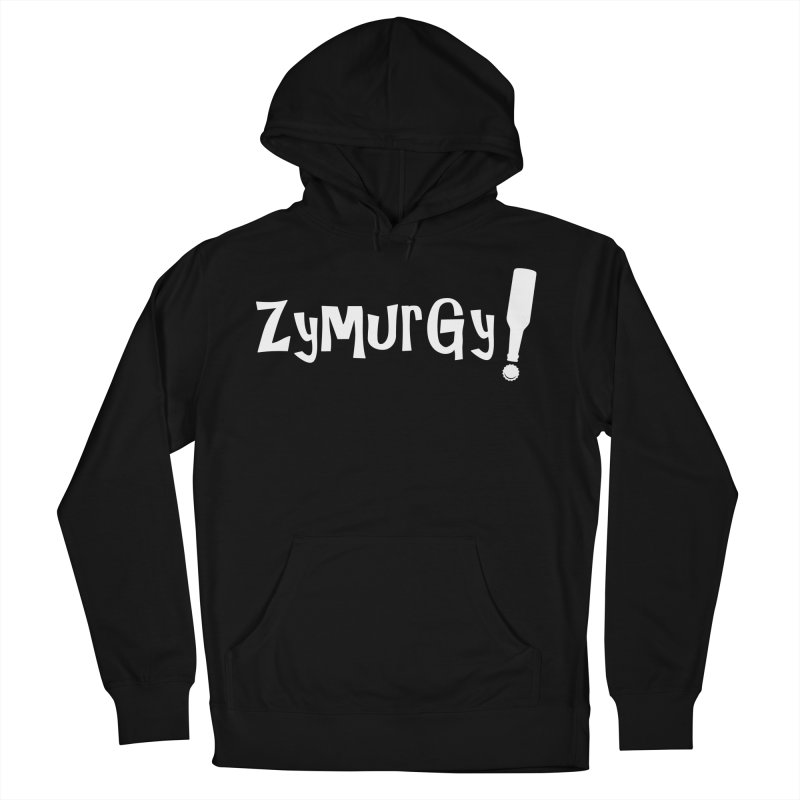 Zymurgy! (white text) Men's French Terry Pullover Hoody by Brian's Belly: Be The Beer