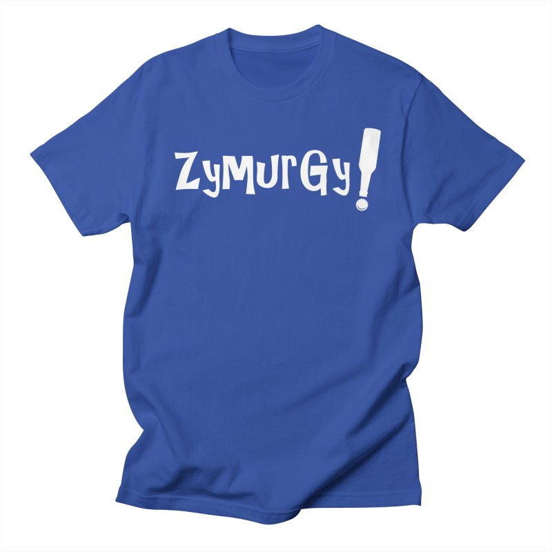 Zymurgy! (white text) Men's T-shirt by Brian's Belly: Be The Beer