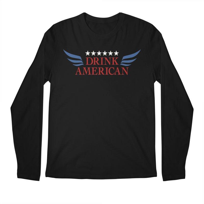 Drink American Men's Regular Longsleeve T-Shirt by Brian's Belly: Be The Beer