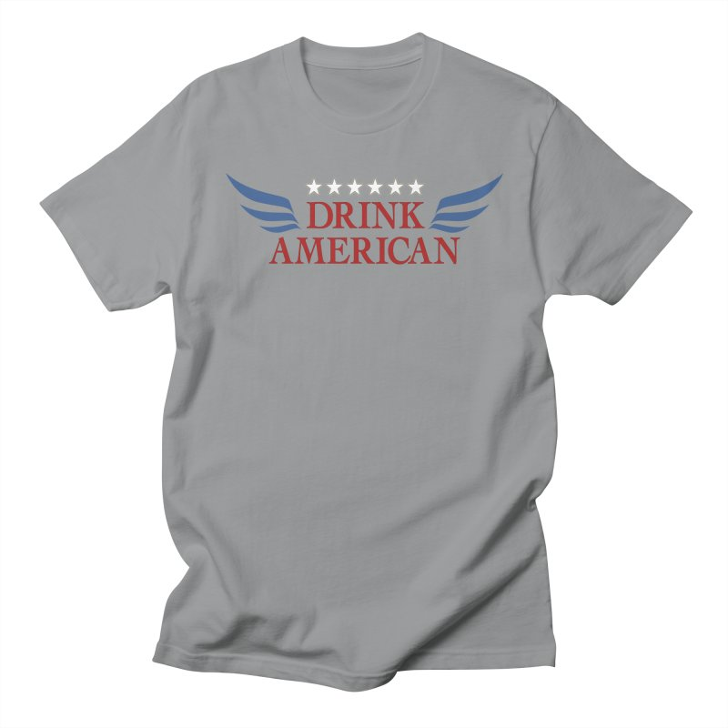 Drink American Men's Regular T-Shirt by Brian's Belly: Be The Beer