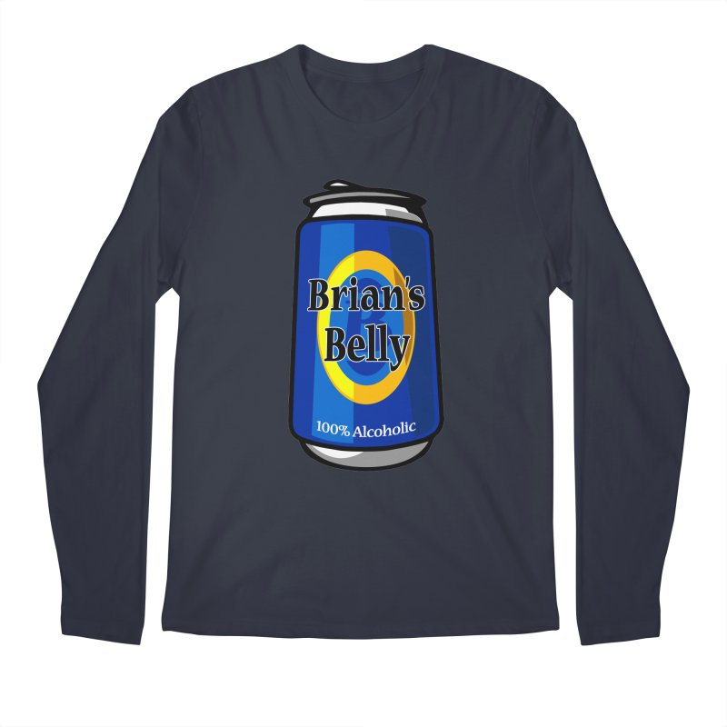 Brian's Belly 100% Alcoholic Men's Longsleeve T-Shirt by Brian's Belly: Be The Beer