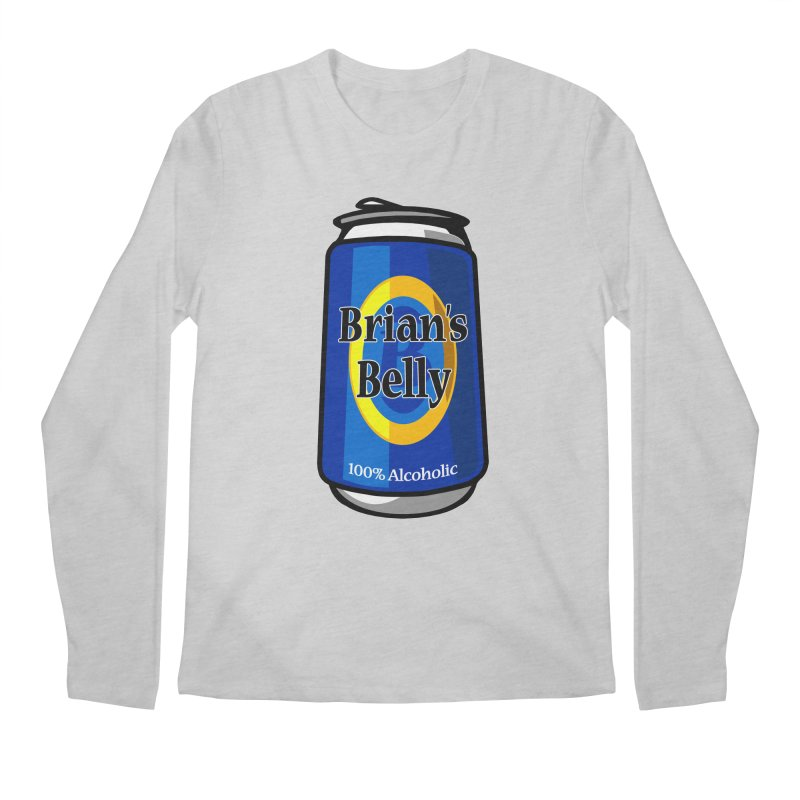 Brian's Belly 100% Alcoholic Men's Regular Longsleeve T-Shirt by Brian's Belly: Be The Beer