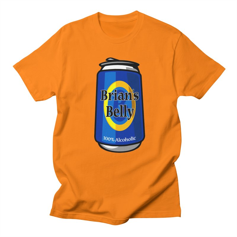Brian's Belly 100% Alcoholic Men's Regular T-Shirt by Brian's Belly: Be The Beer