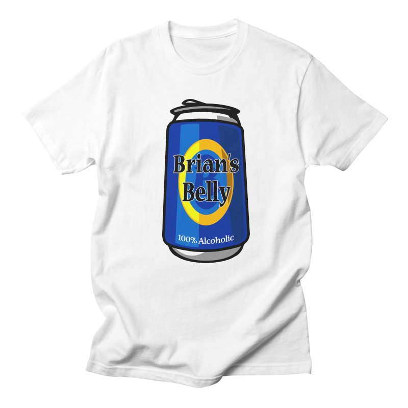 Brian's Belly 100% Alcoholic Men's T-shirt by Brian's Belly: Be The Beer