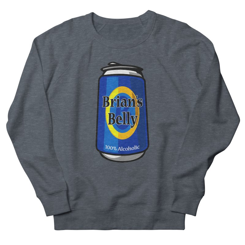 Brian's Belly 100% Alcoholic Men's French Terry Sweatshirt by Brian's Belly: Be The Beer