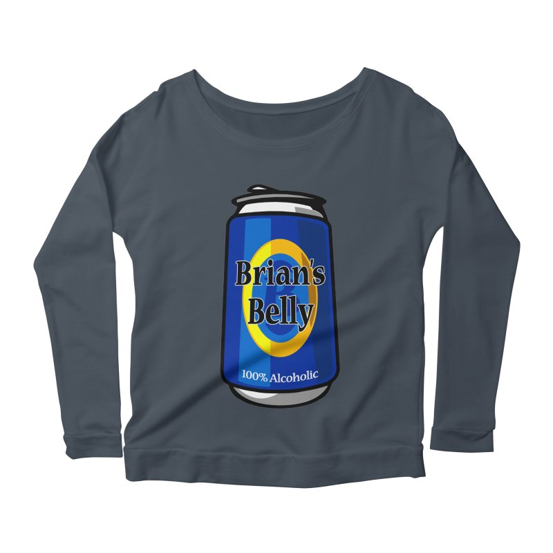 Brian's Belly 100% Alcoholic Women's Longsleeve T-Shirt by Brian's Belly: Be The Beer