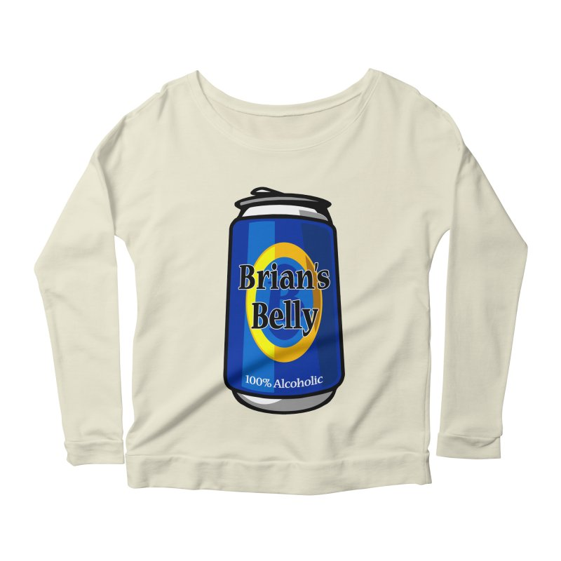Brian's Belly 100% Alcoholic Women's Scoop Neck Longsleeve T-Shirt by Brian's Belly: Be The Beer