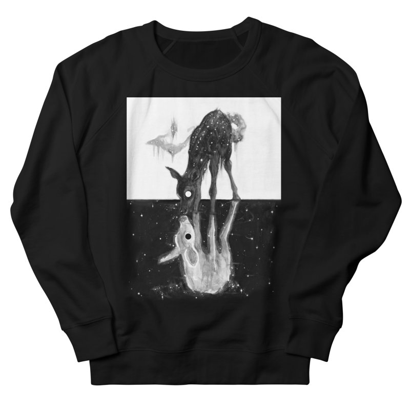 Black Refraction in Men's French Terry Sweatshirt Black by Brian Serway
