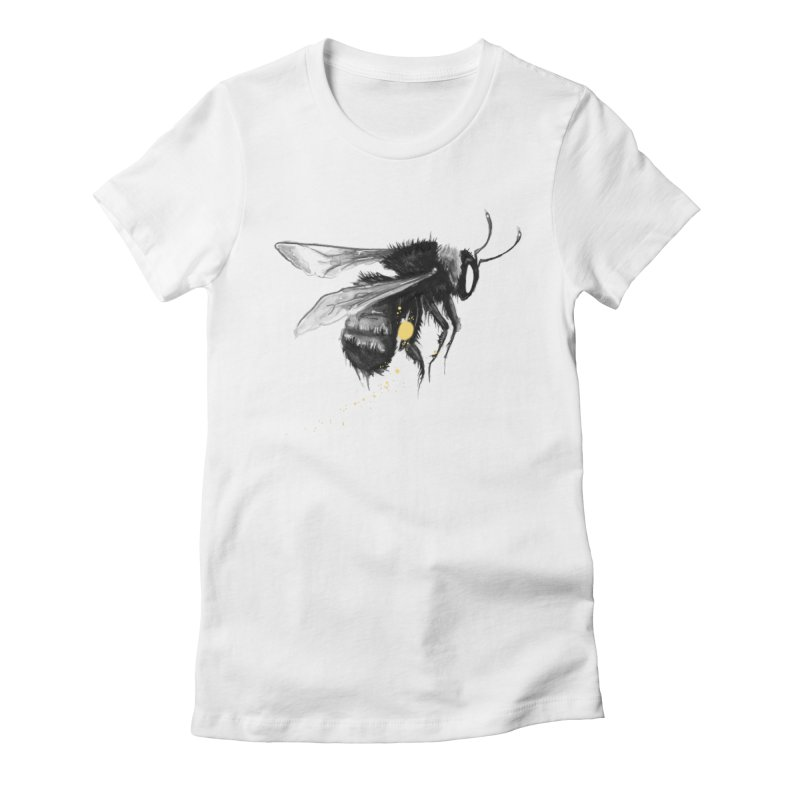 Bish Bee Bumble in Women's Fitted T-Shirt White by Brian Serway