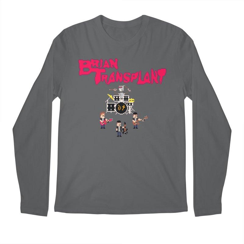 Brian Transplant spooky pixels Men's Longsleeve T-Shirt by Brian Transplant
