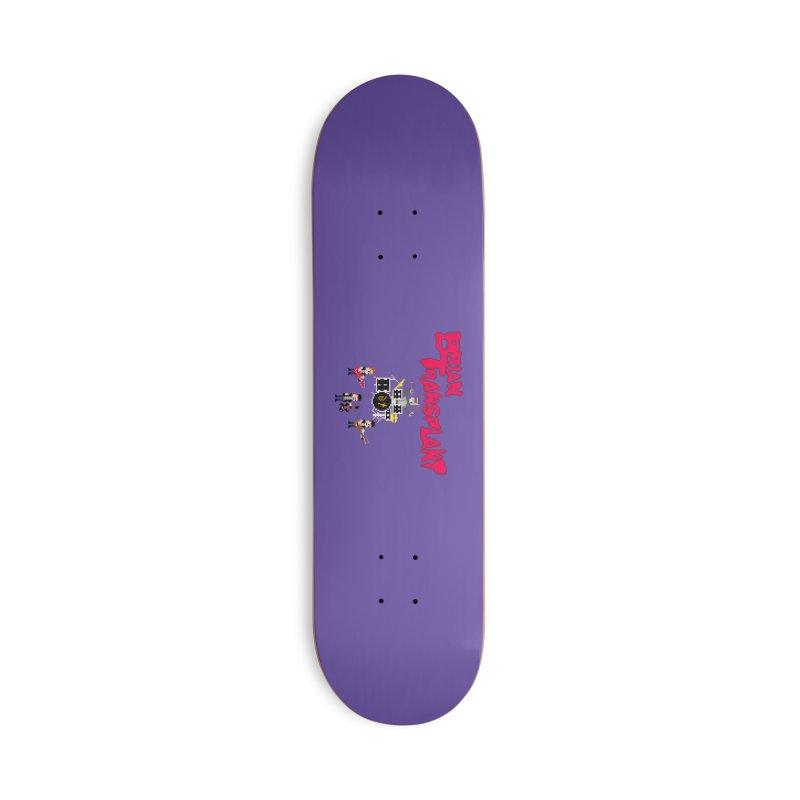 Brian Transplant spooky pixels Accessories Skateboard by Brian Transplant