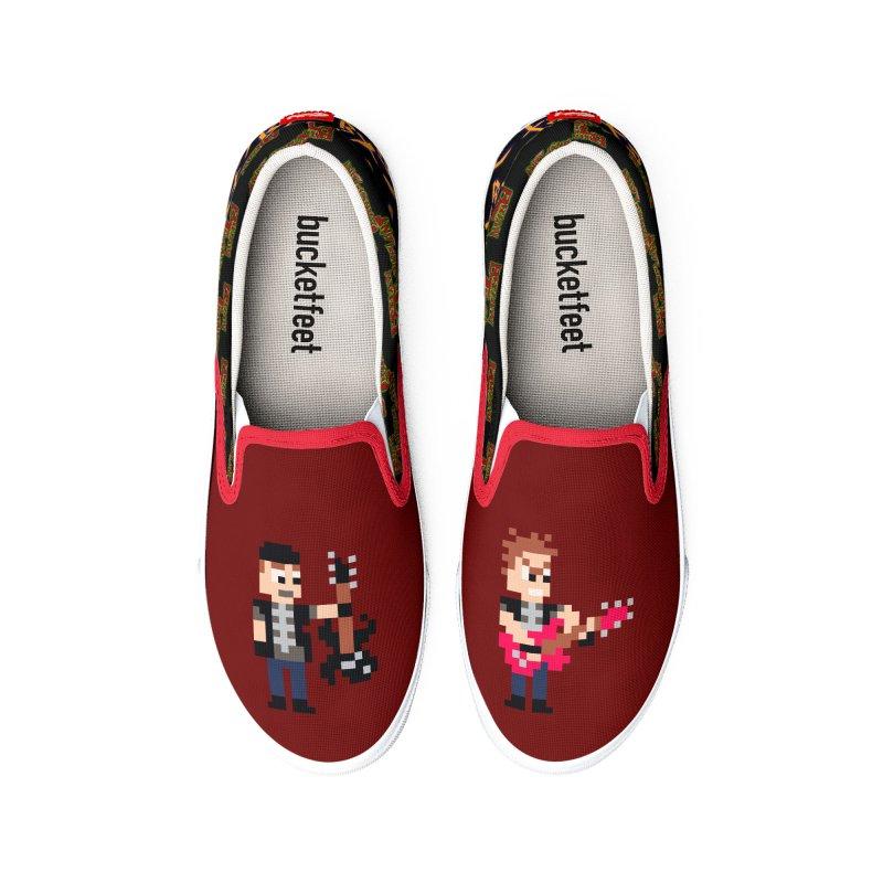 Brian Transplant pixel art kicks Women's Shoes by Brian Transplant