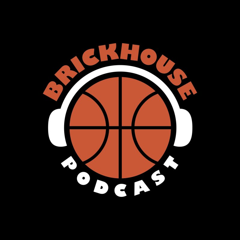 Brickhouse Podcast Logo Apparel (Flat) Orange/White by Brickhouse Podcast Shop