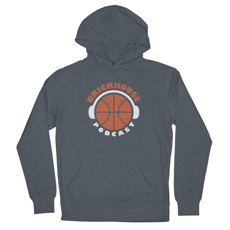 Brickhouse Podcast Logo Apparel (Flat) Orange/White Women's French Terry Pullover Hoody by Brickhouse Podcast Shop