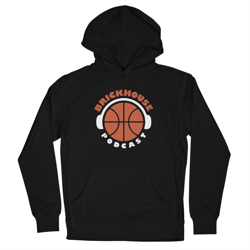 Brickhouse Podcast Logo Apparel (Flat) Orange/White Men's French Terry Pullover Hoody by Brickhouse Podcast Shop
