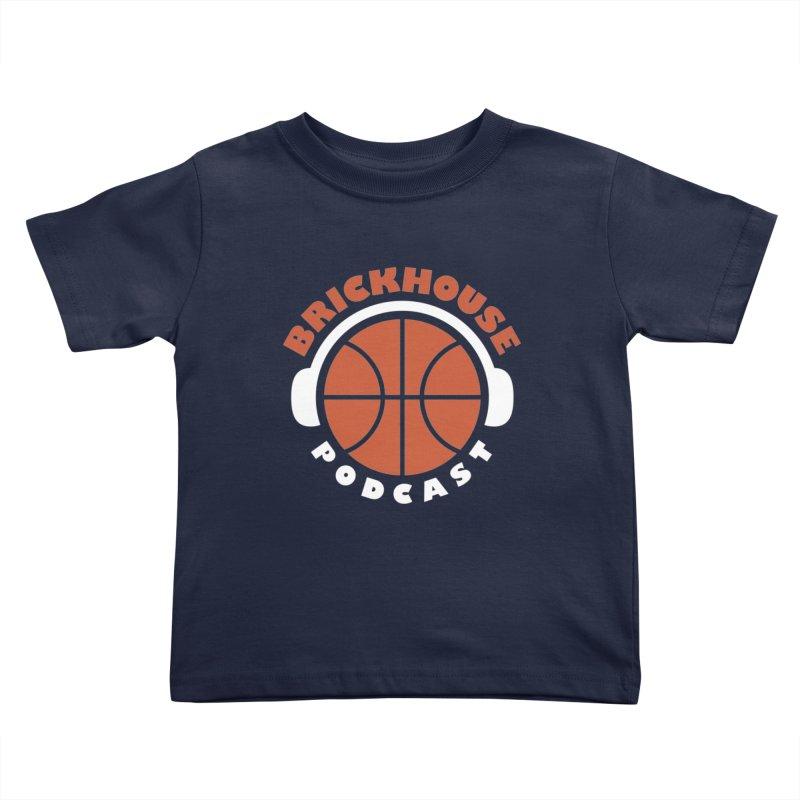 Brickhouse Podcast Logo Apparel (Flat) Orange/White Kids Toddler T-Shirt by Brickhouse Podcast Shop