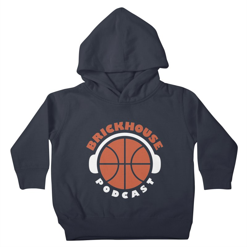 Brickhouse Podcast Logo Apparel (Flat) Orange/White Kids Toddler Pullover Hoody by Brickhouse Podcast Shop