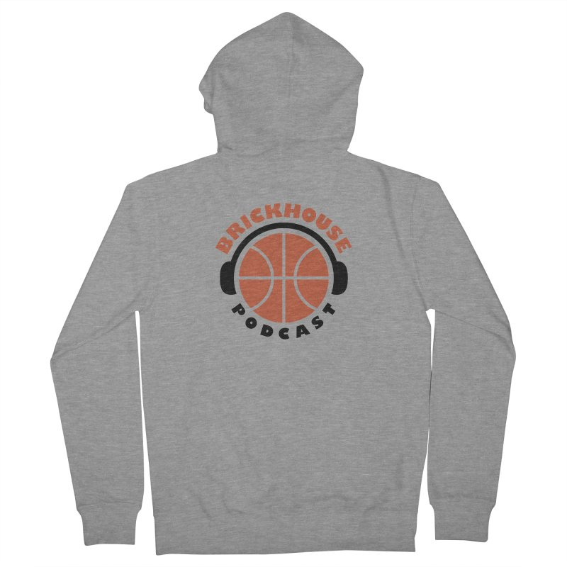 Brickhouse Podcast Logo Apparel (Flat) Orange/Black Women's Zip-Up Hoody by Brickhouse Podcast Shop