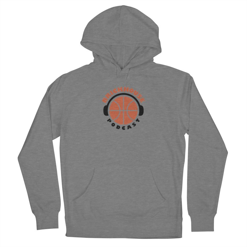 Brickhouse Podcast Logo Apparel (Flat) Orange/Black Women's Pullover Hoody by Brickhouse Podcast Shop