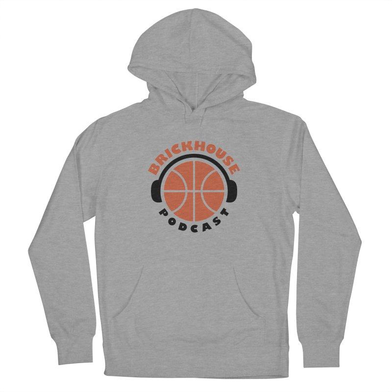 Brickhouse Podcast Logo Apparel (Flat) Orange/Black Men's French Terry Pullover Hoody by Brickhouse Podcast Shop