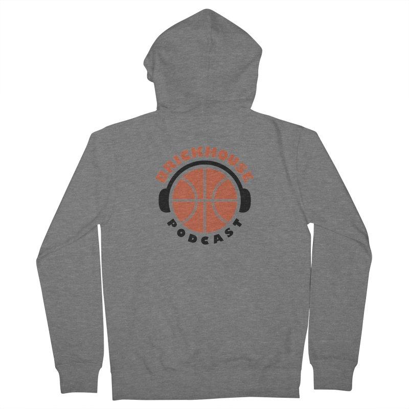 Brickhouse Podcast Logo Apparel (Flat) Orange/Black Women's Zip-Up Hoody by Brickhouse Podcast Shop