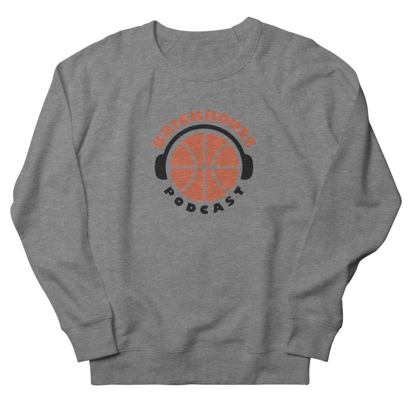 Brickhouse Podcast Logo Apparel (Flat) Orange/Black Women's French Terry Sweatshirt by Brickhouse Podcast Shop