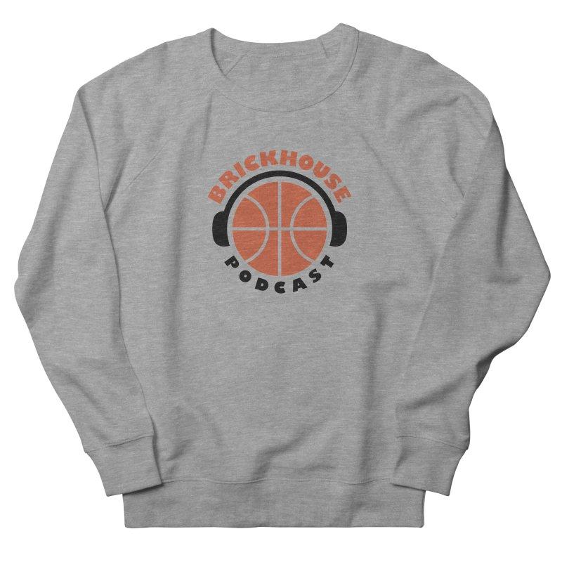 Brickhouse Podcast Logo Apparel (Flat) Orange/Black Men's French Terry Sweatshirt by Brickhouse Podcast Shop