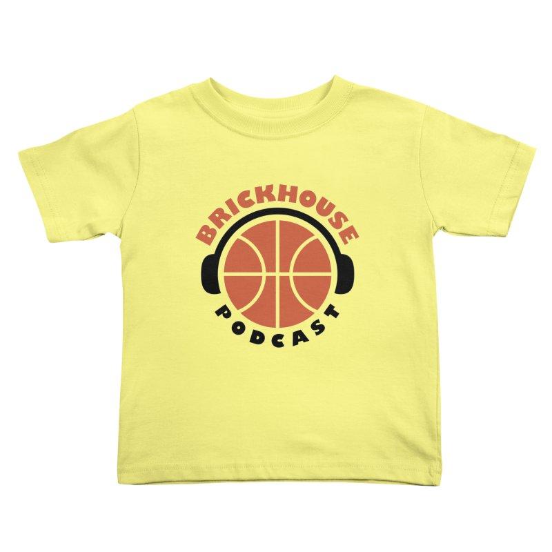 Brickhouse Podcast Logo Apparel (Flat) Orange/Black Kids Toddler T-Shirt by Brickhouse Podcast Shop