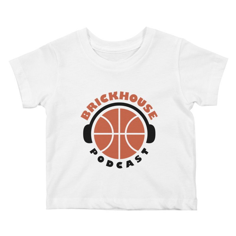 Brickhouse Podcast Logo Apparel (Flat) Orange/Black Kids Baby T-Shirt by Brickhouse Podcast Shop