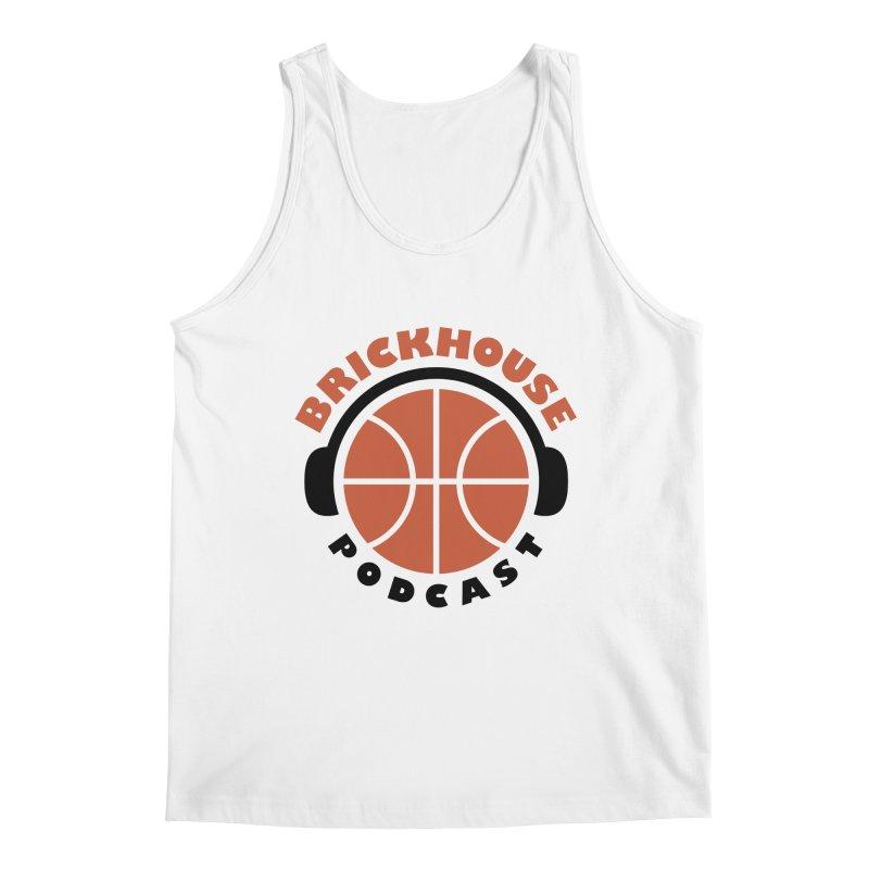 Brickhouse Podcast Logo Apparel (Flat) Orange/Black Men's Tank by Brickhouse Podcast Shop